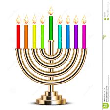 hanukkah menorah illustration of gold hanukkah menorah royalty free stock images