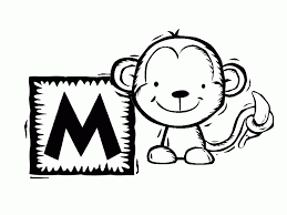 printable monkey coloring pages printable monkey pictures coloring home