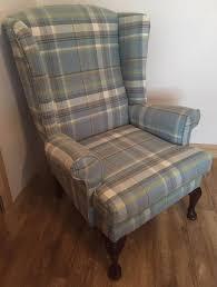 Tartan Armchairs Wingback Tartan Chair Queen Anne Wing Back Arm Sofa Armchair