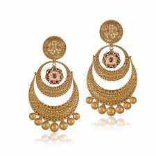 design of earrings gold chandbali designs gold chandbali designs chandbali earrings