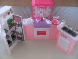 barbie size kitchen doll house sink oven fridge furniture child