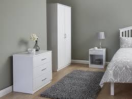 three piece bedroom set panama white 3 piece bedroom set by gfw at mattressman