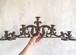 Iron Home Decor by Vintage Heavy Cast Iron Candle Holder Spanish Gothic Home Decor