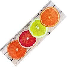 läufer küche teppich läufer waschbar rutschfest design citrus modern sommer