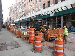 what side does a st go on side street water main work expected to end before l train