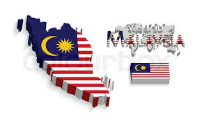 map malaysia vector malaysia 3d federation of malaysia flag and map