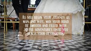 wedding wishes journey as you begin your journey as and may your road be smooth