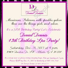Mary Kay Party Invitation Templates Minimalist Spa Birthday Party Invitations Free Printable Birthday