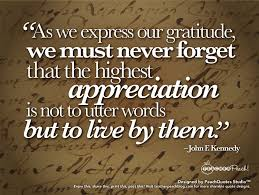 quote on gratitude john f kennedy focuses on our need for gratitude u2014not just feeling