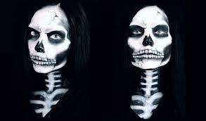 death became her skeletal makeup halloween tutorial reeree