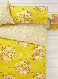 vintage nostalgia yellow floral bedding set bhs things i love