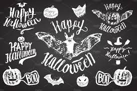 halloween spooky calligraphy set objects creative market