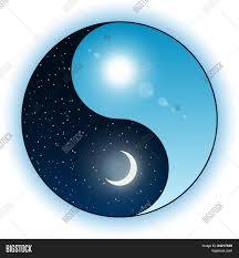 sun moon yin yang symbol vector photo bigstock