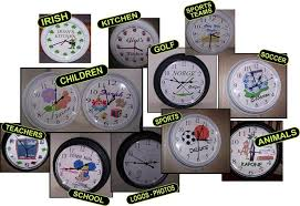 personalized clocks with pictures personalized clocks wall clocks for all occasions sports
