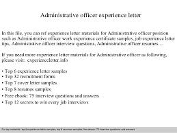 resume format administrative officers exam solutions c300 administrative officer experience letter 1 638 jpg cb 1409484547