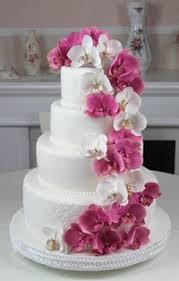 dekoration f r hochzeitstorten rosafarbene torten hochzeitstorte mit rosafarbener orchideen