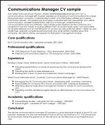 report to senior management template communications manager cv sle myperfectcv