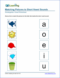 free preschool u0026 kindergarten vowels worksheets printable k5