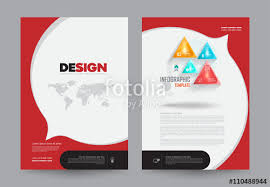 cover layout com cover annual report leaflet brochure flyer template a4 size design