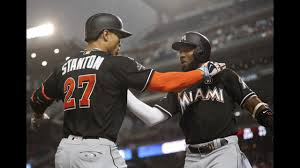 stanton ties august hr record but nats beat marlins 8 3 wpxi