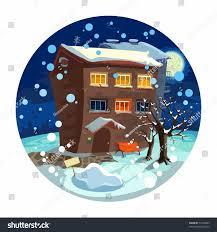 cute little house cute little house winter night stock vector 74774899 shutterstock