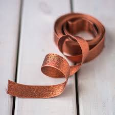 copper ribbon copper lame ribbon sew crafty