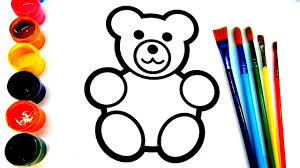teddy bear peppa pig coloring book pages painting for kids abc