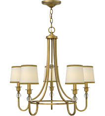 5 Light Bronze Chandelier Hinkley 4875br 5 Light 27 Inch Brushed Bronze Chandelier