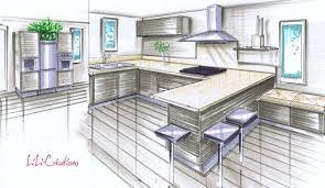 dessiner en perspective une cuisine dessiner sa cuisine simple awesome amazing concevoir sa cuisine en