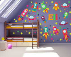 Space Wall Art Outer Space Nursery Space Wall Decal