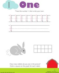 tracing numbers u0026 counting 1 worksheet education com