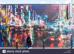 wall mural in hanbury street spitalfields london borough of stock photo wall mural in hanbury street spitalfields london borough of tower hamlets greater london england united kingdom