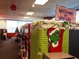 Christmas Theme Office Decorating Image  Room Decor  Pleasant