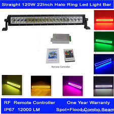 24 Led Light Bar by Straight 22 Inch 120w Halo Ring Led Light Bar With Remote