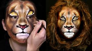 lion makeup u0026 face painting tutorial youtube