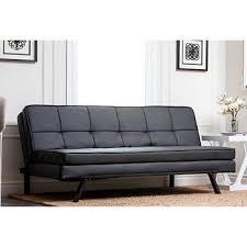abbyson living avalon convertible sofa black bj u0027s wholesale club