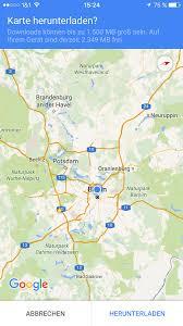 Navigation Map Google Maps Für Ios Erhält Offline Navi U203a Pocketnavigation De