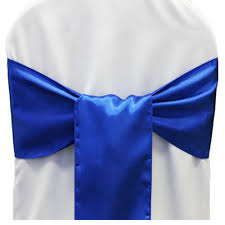 blue chair sashes 25pcs new royal blue satin chair sashes bows 15cmx275cm wedding