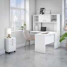 office by kathy ireland echo l shaped desk with hutch and mobile