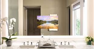 built in bathroom mirror bathroom mirror with tv media decor diy intended for built in 5