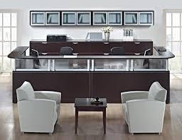 Gray Reception Desk Affordable Office Reception Desks Baystate Office Furniture