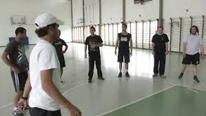 tel aviv israel 2013 students do sports exercises at the