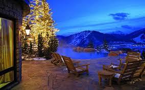 nice view wallpaper tags winter christmas tree lights snow