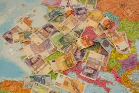 Travel Map Of Europe by Map Euro And Pounds Money And A Passport Concept Of Europe