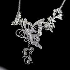 bridal necklace sets silver images Bridal silver color jewelry sets silver color leaf hollow out jpg
