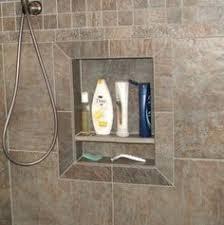 bathroom shower niche ideas shower niche lined in different tile