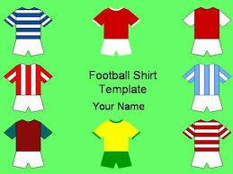 football shirts template clip art library