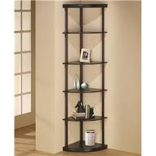Backless Bookshelf Coaster Bookcases Cappuccino Semi Backless Bookshelf Value City