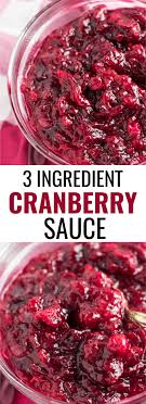 healthy 3 ingredient cranberry sauce recipe naturally sweetened