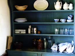 magnificent old blue open kitchen cabinet storage as spice rack
